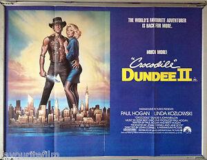 Cinema Poster Crocodile Dundee Ii 1988 Quad Paul Hogan Linda Kozlowski Ebay