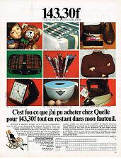 PUBLICITE ADVERTISING 064  1969  QUELLE   magasin vente par correspondance