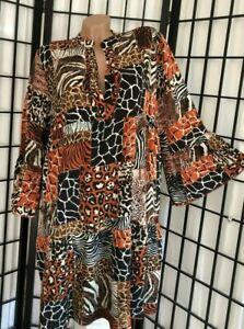 *NEU* Italy Style Kleid Tunika Hängerchen Boho Leo Zebra ...
