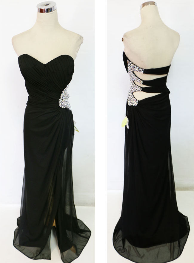 NWT Morgan & Co  schwarz Evening Prom Party Gown 3