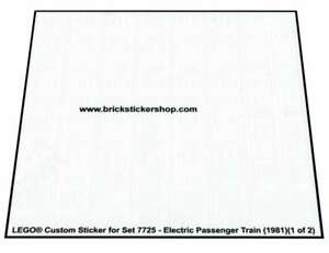 Lego® Custom Transparant Pre-Cut Sticker for set 7725 - Electric Passenger Train