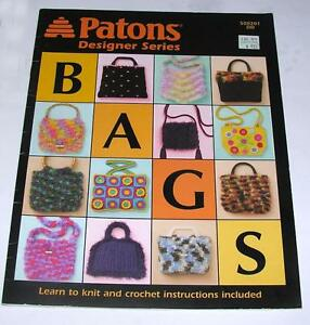 2004-PATONS-DESIGNER-CRAFT-HOW-TO-SERIES-EASY-TO-KNIT-amp-CROCHET-HANDBAGS-PURSES