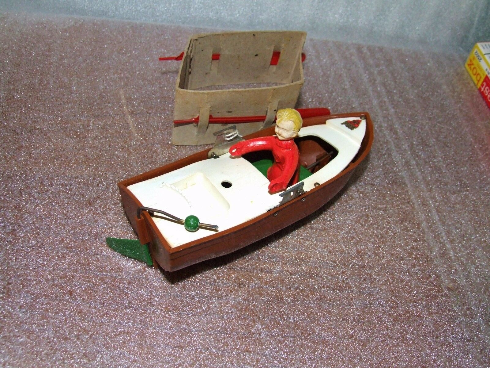 Triang Minic Jack in the Boat Clockwork Rowing Boat - Boxed