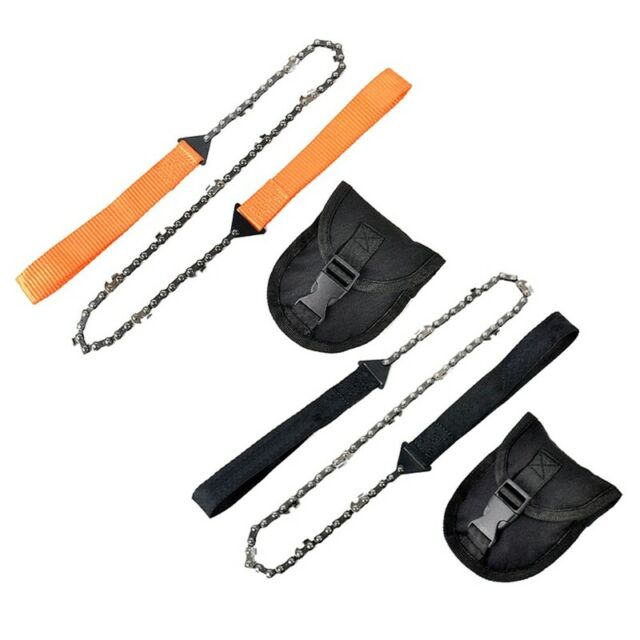 Portable Camping Hand Chain Saw Cloth Strap Handles Cut Emergency Survival FI
