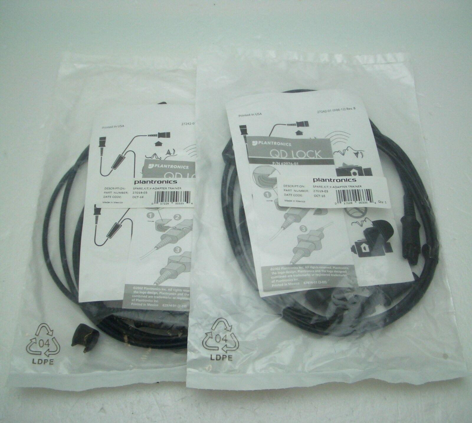 2 X Plantronics Y Training Supervisor Qd Splitter Cable