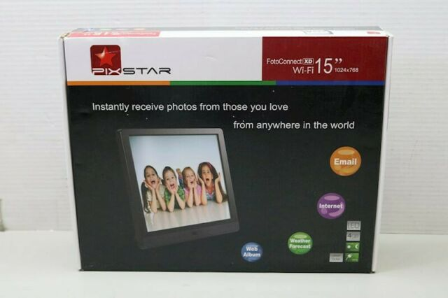 Pix-Star 15 Inch Wi-Fi Cloud Digital Photo Frame FotoConnect XD- NEW SEALED