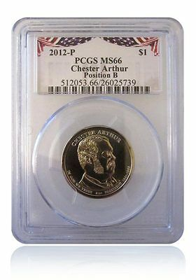 2012 P Chester Arthur Presidential Dollar $1 PCGS MS66 Position A