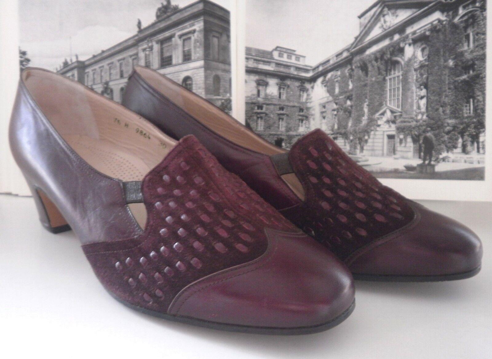 Löw Löw Löw señora pumps projohos zapatos of Switzerland nos 80er True vintage 80s burdeos 3913c4