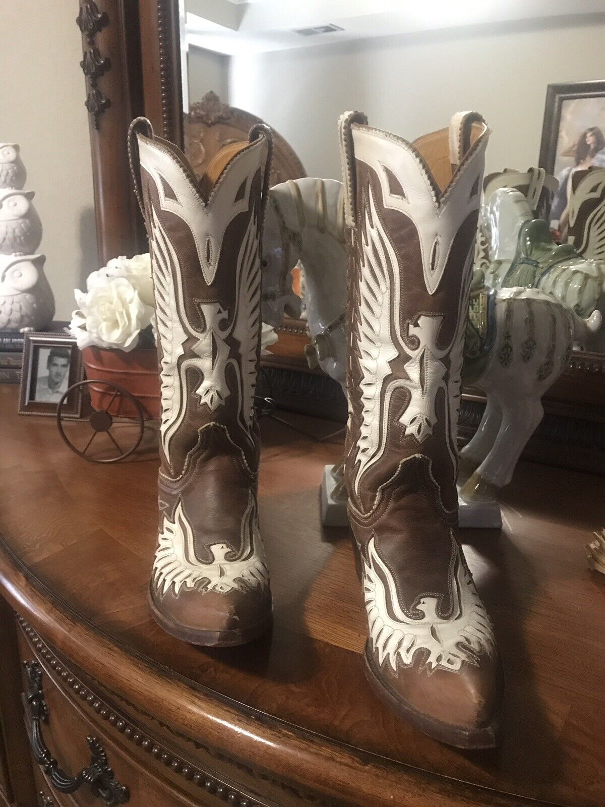 14f3f00cee9 Old Old Old Gringo Eagle boots hand made Size 6.5 6 1 2 Distressed ...