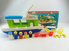 Fisher Price #985 Happy Houseboat Boat Vintage 1972 Little People 100% COMPLETE