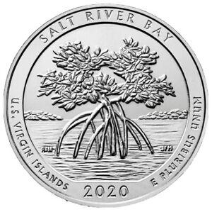 LOW MINTAGE. 2020 W SALT RIVER BAY US VIRGIN ISLANDS BU QUARTER V75 NICE COIN