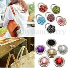 Wholesales Crystal Table Folding Bag Purse Handbag Hook Hanger Holder 12 Colors