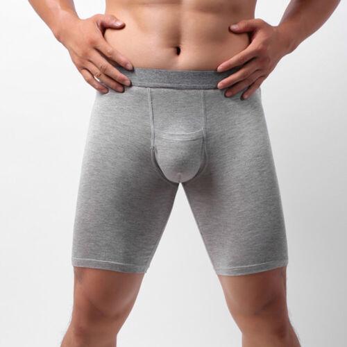 Slips Männerunterwäsche Bequem Boxer Shorts Langes Bein Baumwolle fest