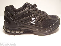 Sparco Scarpa Trainer Shoes Mens Black Racing Crew Shoes Casual Sneakers