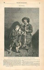 Le-Porteur-de-Lievre-par-Johan-Joseph-Zoffany-Zauffelij-GRAVURE-OLD-PRINT-1863