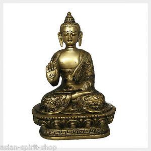 Segnender Buddha Lehrender Buddha 25 cm Messing 3 KG Buddhismus Vitarka Mudra