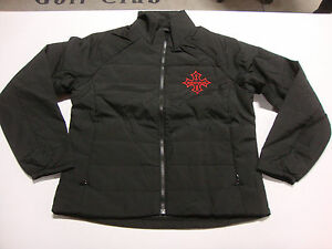 BIG DOG MOTORCYCLES LADIES IRON CROSS QUILTED JACKET LOGO 2 X-LARGE LIGHTWEIGHT
