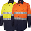 10x-HI-VIS-SAFETY-WORK-WEAR-COTTON-DRILL-SHIRT-Light-Weight-REFLECTIVE-VENTS thumbnail 23