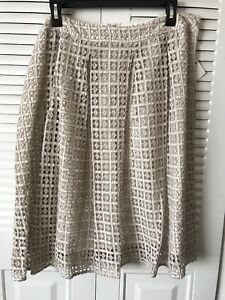 7a340a292b Image is loading NWT-Nordstrom-Halogen-Eyelet-Pleated-Skirt-In-Size-