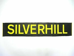 Vintage-1999-screen-printed-Hastings-Bus-destination-blind-Silverhill
