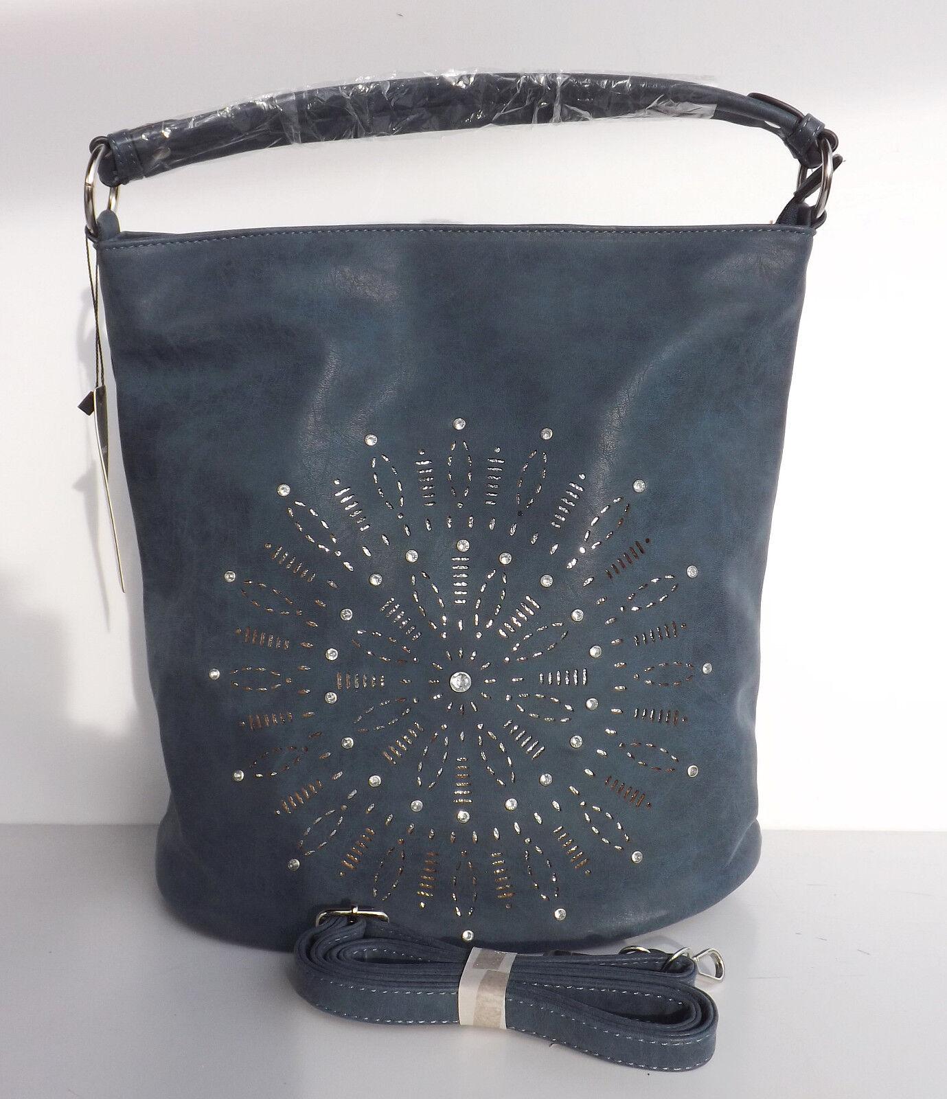Tasche Handtasche Schultertasche Umhängetasche Damen Damen Damen Velours blau | Hochwertig  | Vielfältiges neues Design  | Neu  98a0dc