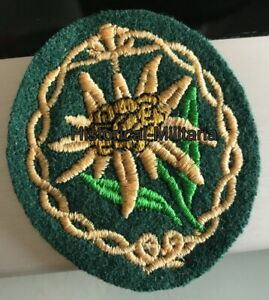 WH-EDELWEISS-Jaegertruppe-Mountain-Troop-039-s-EM-NCO-sleeve-patch-on-green