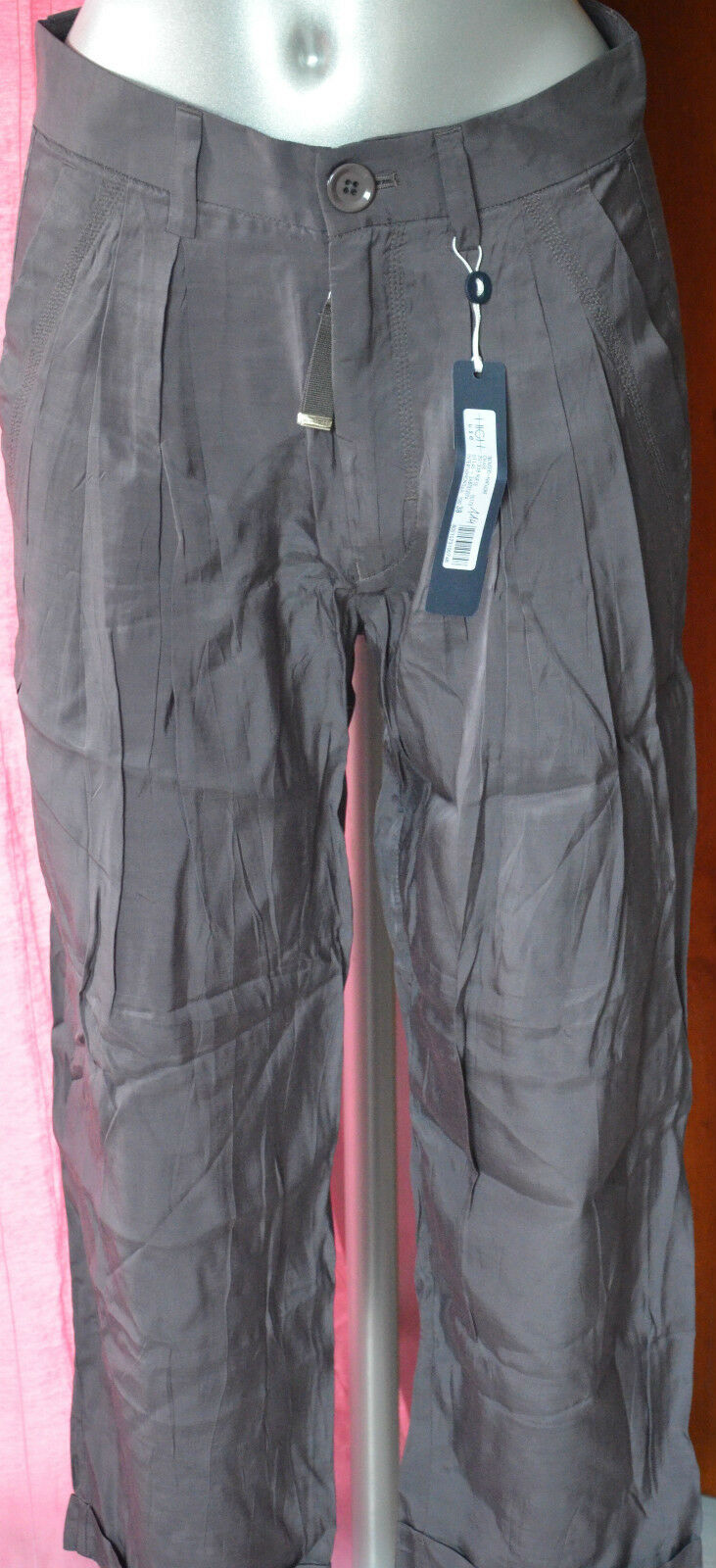 Luxurious trousers gripper glossy grey HIGH USE size 42 i46 NEW LABELS