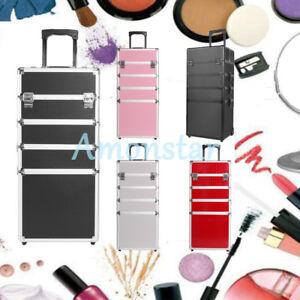 a924567b1 La imagen se está cargando 5-Color-Maleta-Neceser-Cosmetico-Caja-Gran -Volumen-