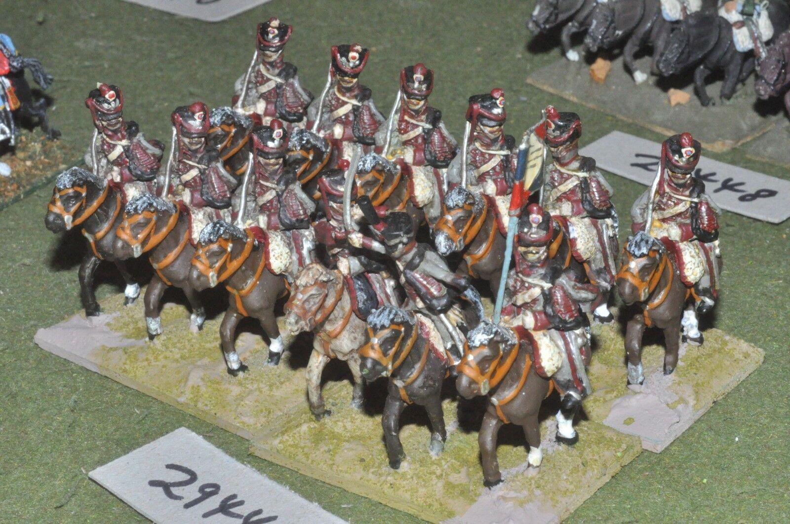 25mm napoleonic   french - hussars 12 figures - cav (29449)