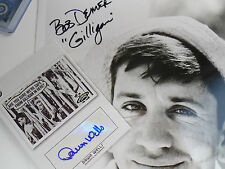 Bob Denver autograph LOT 2x GILLIGAN's Island DAWN Wells Topps signed 8x10 auto