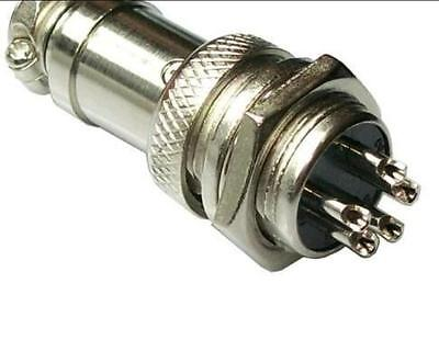 5×New Aviation Plug 5-Pin 16mm GX16-5 Male and Female Panel Metal Connector