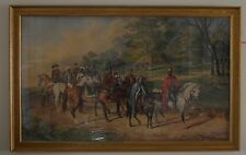 George Laporte 1799-1883 A Huge Scene from Ivanhoe Watercolour