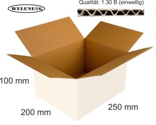 60 x 250x200x100 mm B-380 //m2  Faltkartons Versandkarton Falt Kartons weiß
