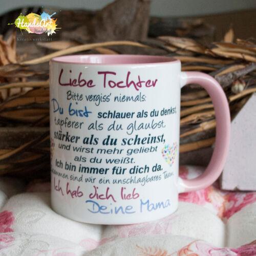 Liebe Tochter Geschenk Kinder Weihnachten Valentinstag Deine Mama Tasse