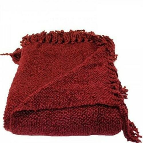 "Novo tecido macio quente Workz-Marion Framboesa Sofá Cobertor 127x178 Cm 50/""x70/"""