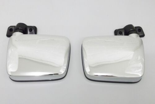 Neuf Paire Porte Miroir Chrome Manuel pour Nissan Patrouille G Y60 2.8TD 4.2D