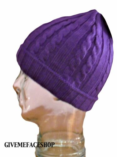 Brand new purple Roley Tricoté Bonnet Wooly chapeau bonnet hiver homme /& femme hip hop