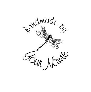 UNMOUNTED-PERSONALIZED-039-HANDMADE-BY-039-RUBBER-STAMPS-H48