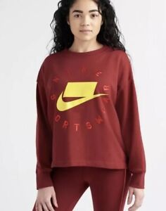 collar boicotear Discriminar  Women's Sportswear NSW French Terry Crew New AR3052-677 Size Small | eBay