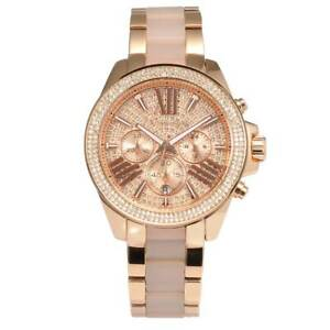 f695863e5f40 Michael Kors MK6096 Wren Crystal Pave Dial Chronograph Women s Watch ...