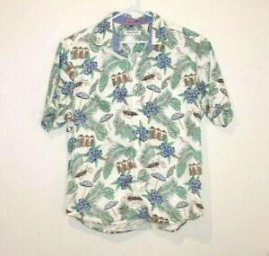 Tommy-Bahama-Button-Up-Short-Sleeve-Shirt-Men-039-s-Size-Large