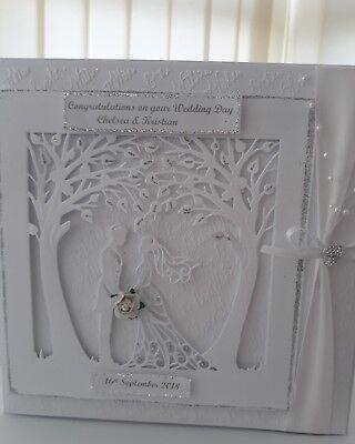 Soleggiato 3d 8x8 Matrimonio Anniversario Congratulazioni Card Fatto A Mano & Personalizzato.-s Card Handmade & Personalised .. It-it Mostra Il Titolo Originale Tempi Puntuali