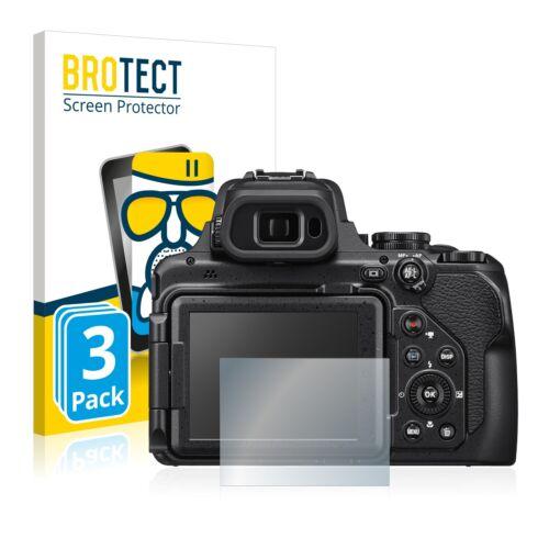 3x Antireflex Panzer Glasfolie für Nikon Coolpix P1000 Matt 9H Entspiegelungs