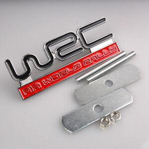 Metal-Wrc-Insignia-Parrilla-Delantera-Capucha-Deportivo-Racing-Fia-World-Rally-Skoda-Subaru-Nuevo