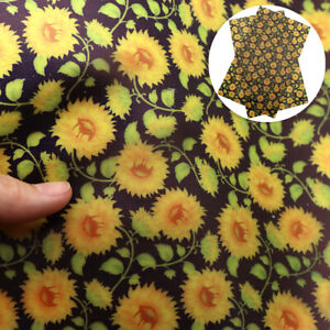 20-34cm-Flower-Printed-Jelly-Faux-Leather-Sheet-Leatherette-Upholstery-DIY