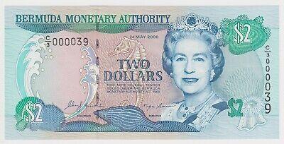 Bermuda Banknote 2 Dollars 2000 UNC