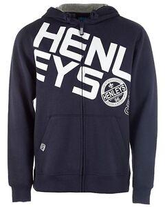 Bleu à complet pour Homme marine Sweat à glissière zippé capuche Henleys E29WHDI