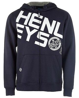 Henleys Men's Slope Full Zip Hoody Hoodie Navy