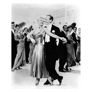 Fred Astaire In Black Tuxedo Holding Ginger Rogers Dancing 8 X 10 Inch Photo Ebay
