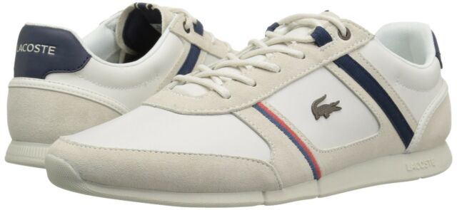 New Lacoste Men/'s Chaymon 118 2  Cam Off White Navy Sneaker Shoes